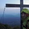Schafwisspitz am 6:50 Uhr. 46h, 48km, 5600hm. Monstertour der Extraklasse im Alpstein. Freesolo Klettern/Bergsteigen über alle Gipfel/Grate von West nach Ost. Von Stein (SG) nach Hoher Kasten (AI)